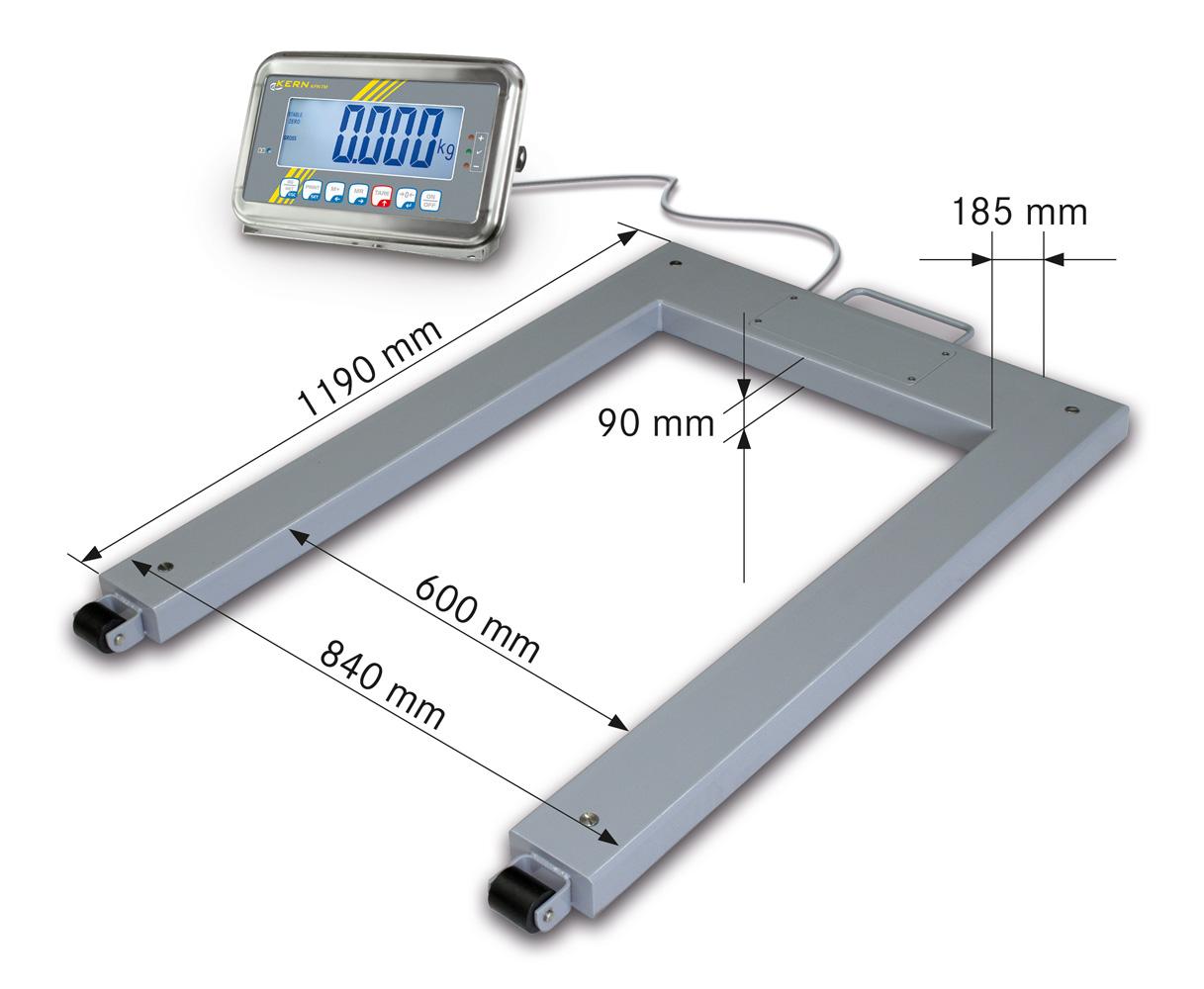 Palettenwaage mit Stahl-Lastaufnahme (IP67) und Edelstahl-Auswertegerät (IP65), mit Eichzulassung [M]