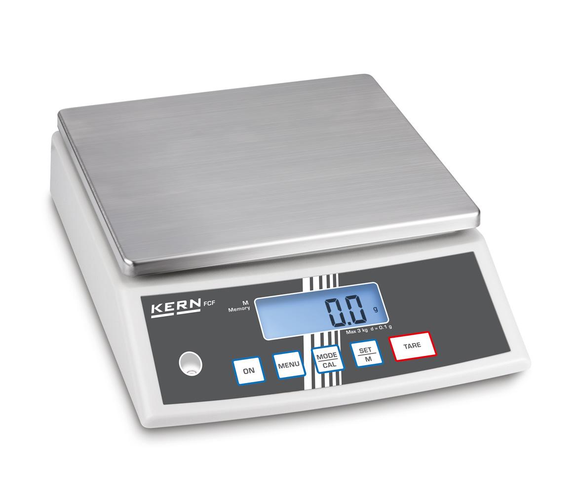 Kompakte Tischwaage mit vielseitigen Funktionen und hoher Genauigkeit für Industrie & Gastronomie