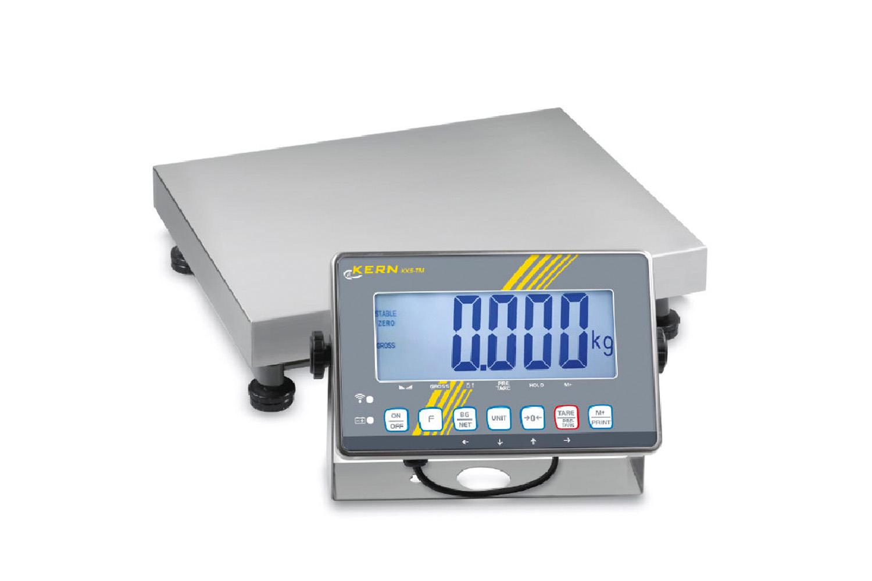 Plattformwaage mit Edelstahl-IP68-Auswertegerät, XL-Display und Eichzulassung [M] – auch als hochauflösende Variante mit Feinanzeige