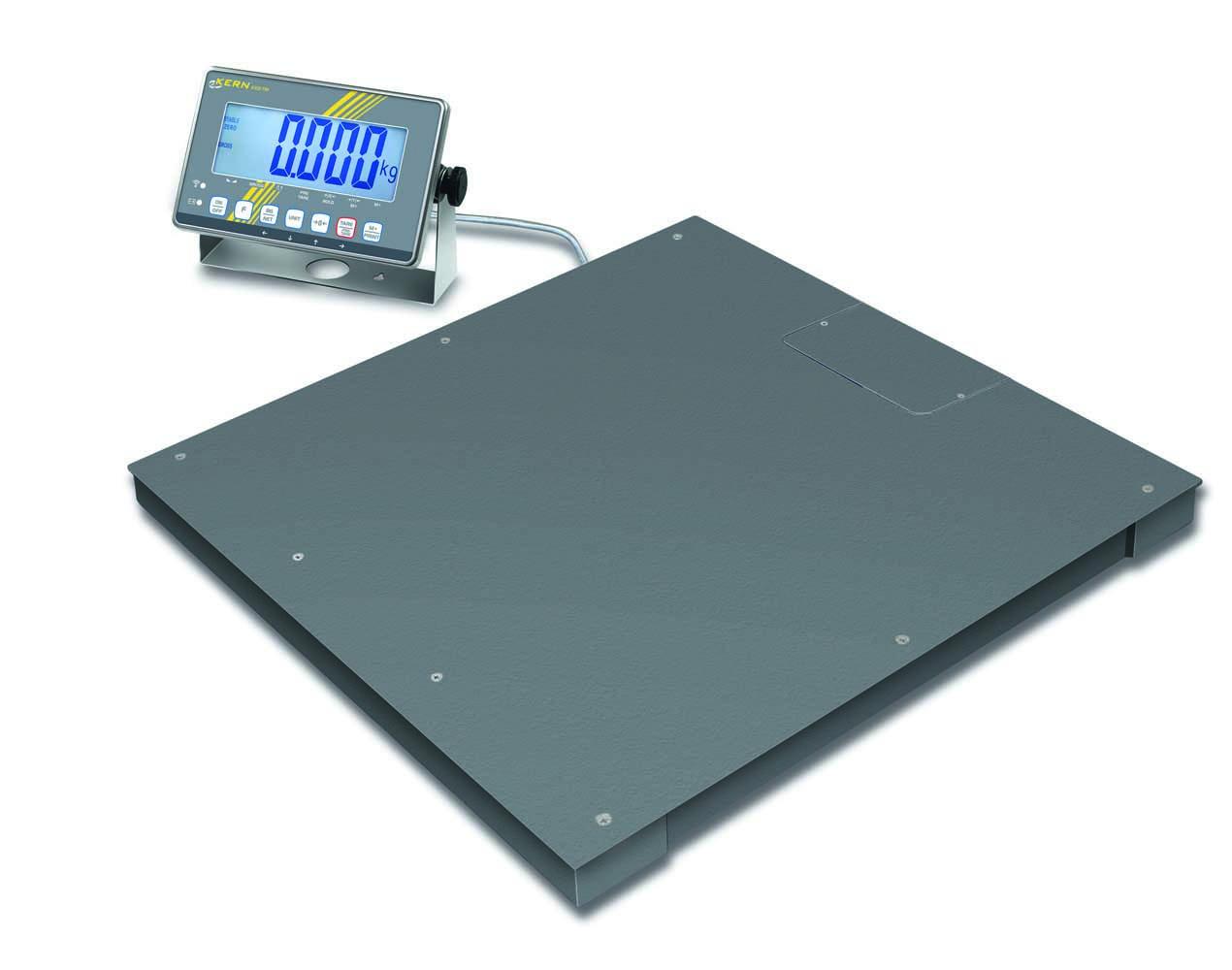 Wägebrücke mit verschraubter Wägeplatte (IP67) und Edelstahl-Auswertegerät (IP68), mit Eichzulassung [M]