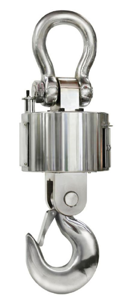 Robuste Industrie-Kranwaage bis 15 t mit Funk-Auswertegerät und Datenschnittstelle RS-232 zur Übertragung der Wägeergebnisse