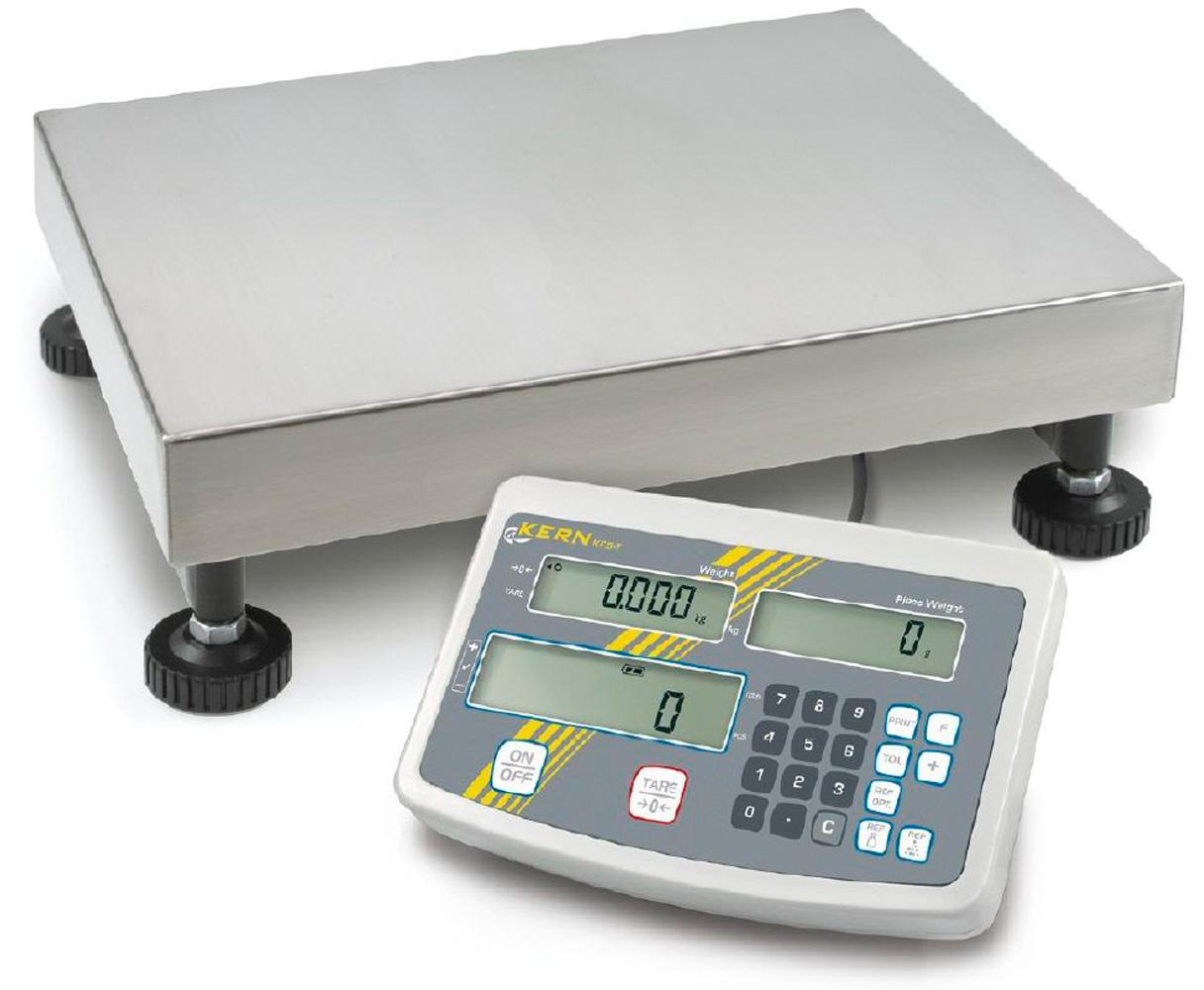 Industriezählwaage mit komfortabler Zehnertastatur zur bequemen Dateneingabe, Zählauflösung 75000 Punkte