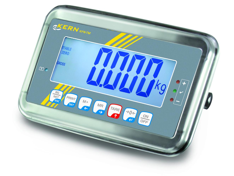 Auswertegerät aus Edelstahl mit Schutzgrad IP65 und überlegener Displaygröße