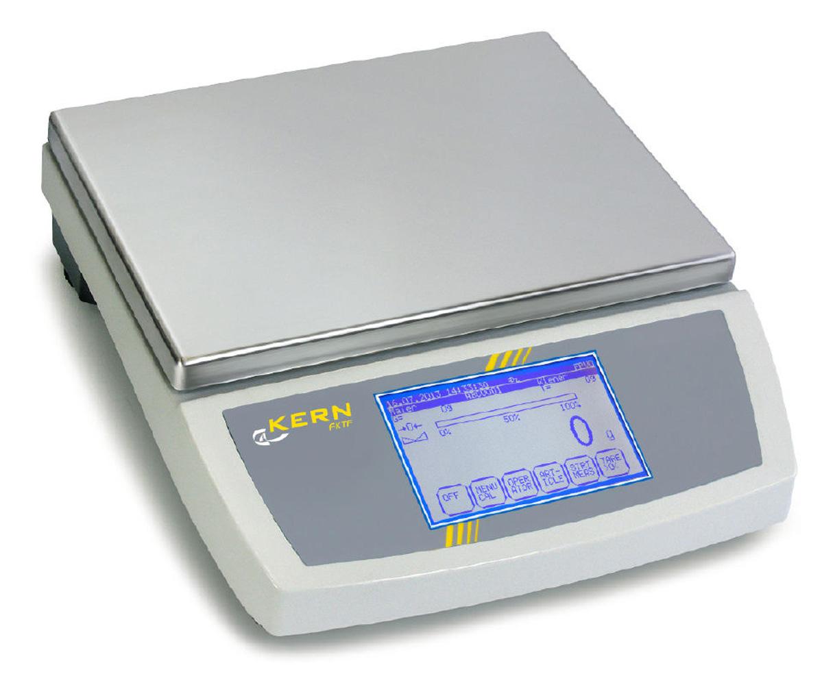 Kontrollwaage mit Touchscreen-Bedienung zur Stichprobenprüfung|nach der eichamtlichen Fertigpackungsverordnung (FPVO) und zur|Füllmengensteuerung im Produktionsprozess