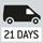 Paketversand per Kurierdienst. Versandbereit in 21 Tagen