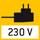 Netzadapter: 230V/50Hz. Serienmäßig. Standard D. Auf Bestellung auch in Standard GB oder USA lieferbar.