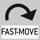 Fast-Move: Die gesamte Verfahrlänge kann durch eine einzige Hebelbewegung umfasst werden.
