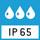 IP 65 Schutzart nach DIN EN 60529: Geeignet für den kurzzeitigen Kontakt mit Flüssigkeit. Für die Reinigung einen feuchten Lappen verwenden. Staubdicht.