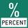 Prozentbestimmung: Die Anzeige der Abweichung vom Referenzgewicht (100%) in % statt in Gramm.