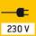 Netzteil: In der Waage integriert. 230/50Hz in D. Auf Bestellung auch in Standard GB, AUS oder USA.